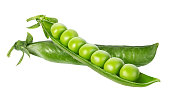 peas isolated on white backgroundpeas isolated on white background