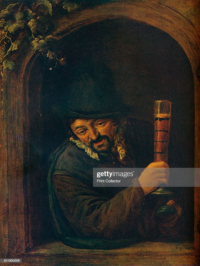 'Peasant at a Window' c1658 Painting housed in the Brooklyn Museum From The Connoisseur Vol XXIV [Otto Limited London 1909]Artist Adriaen van Ostade