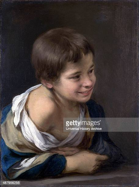 A Peasant Boy leaning on a Sill 167080 by Bartolome Esteban Murillo Spanish painter
