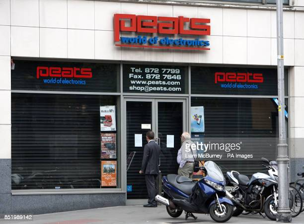 Peats World of Electronics in Parnell Street store Dublin One of Ireland's bestknown electronics retailers which has shut down for a second time...