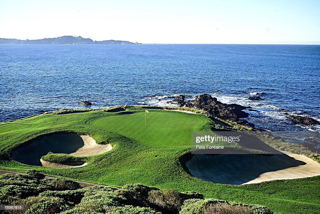 Pebble Beach Golf Links hole 7 designed by Jack Neville and Douglas Grant and opened for play in 1919