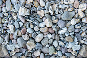 Pebble stones, background. Beach on the Rugia Island.