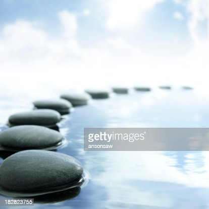 pebbles in water