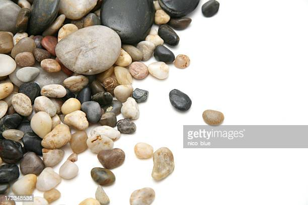 Pebbles with white copyspace