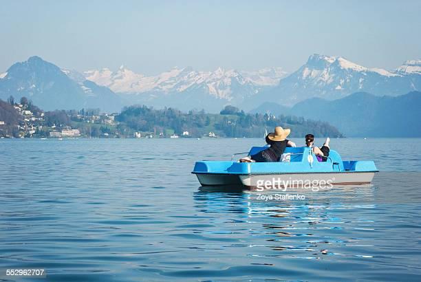 Pedal boat on lake Maggiore