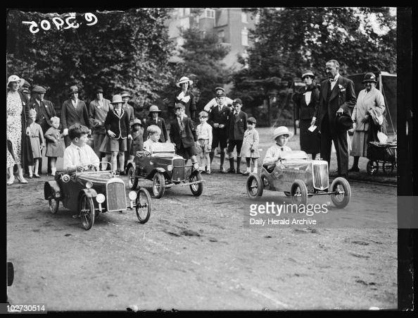 Pedal car race 1933 A photograph of a pedal car race taken by Edward Malindine for the Daily Herald newspaper on 21 June 1933 Smartlydressed and at...