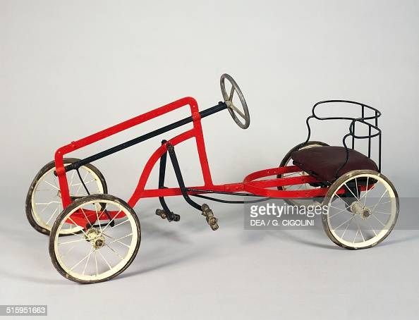 Pedal car toy made by Ansaldo 1930 Italy 20th century