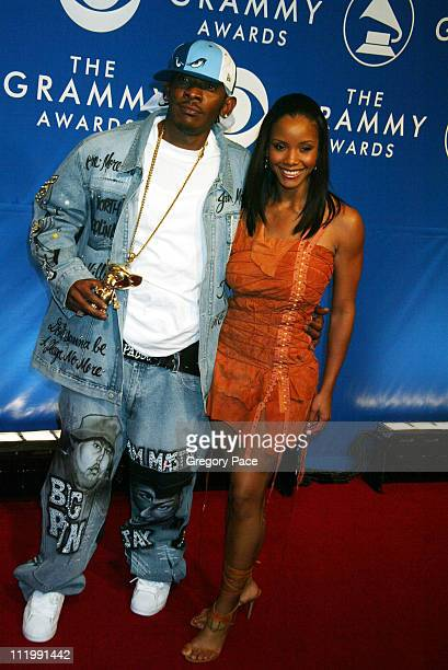 Peddy Pablo and Miss USA 2002 Shauntay Hinton during The 45th Annual GRAMMY Awards Arrivals by Gregory Pace at Madison Square Garden in New York NY...