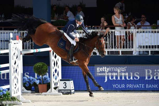 Peder Fredericson of Sweden riding HM Christian K during the Longines Grand Prix Athina Onassis Horse Show on June 3 2017 in St Tropez France