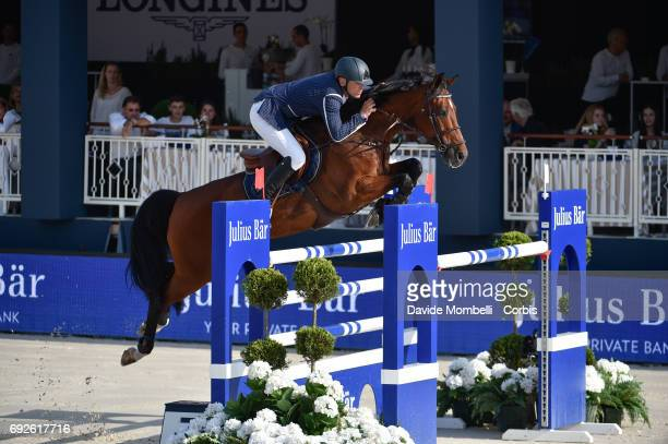 Peder Fredericson of Sweden riding HM Cristian K during the Longines Grand Prix Athina Onassis Horse Show St Tropez on June 3 2017 in St Tropez France