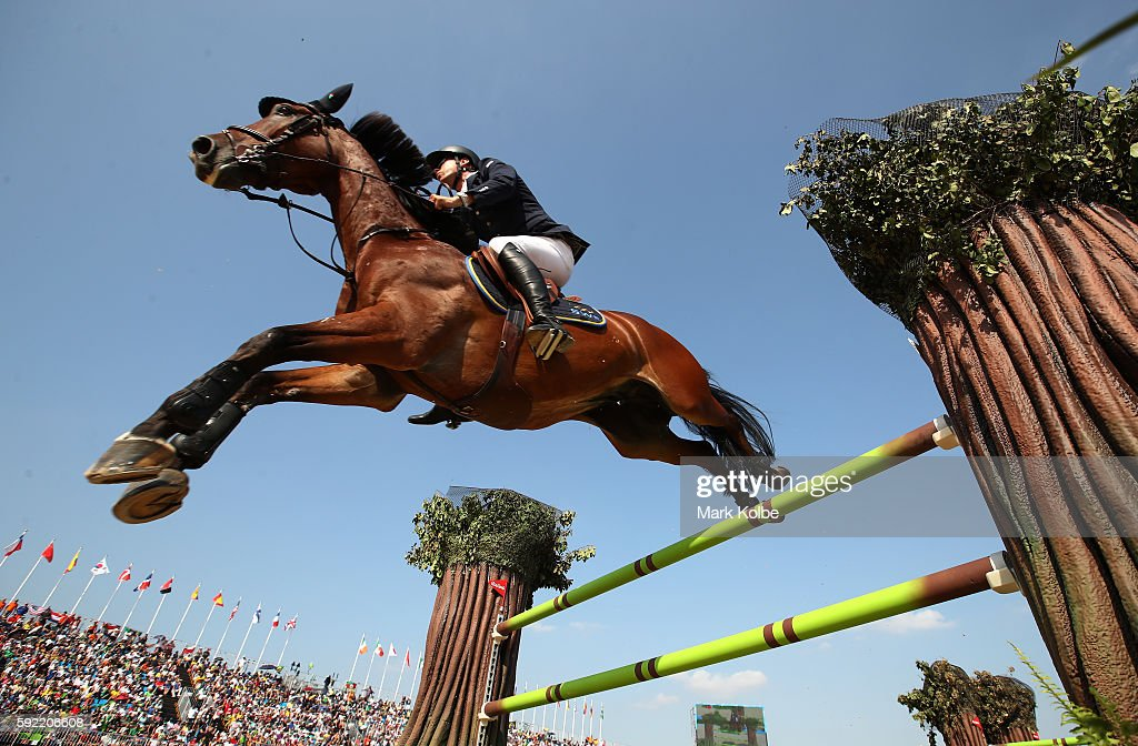 Peder Fredricson of Sweden riding All in competes during the Equestrian Jumping Individual Final Round on Day 14 of the Rio 2016 Olympic Games at the Olympic Equestrian Centre on August 19, 2016 in Rio de Janeiro, Brazil.