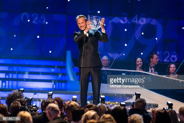 Peder Fredricson wins the Jerringpriset award during the 2017 Sweden Sports Gala held at the Ericsson Globe Arena on January 16 2017 in Stockholm...