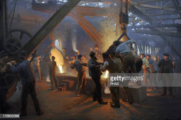 Peder Severin Kroyer Danish painter The Iron Foundry Burmeister Wain 1885 National Museum of Art Copenhagen Denmark