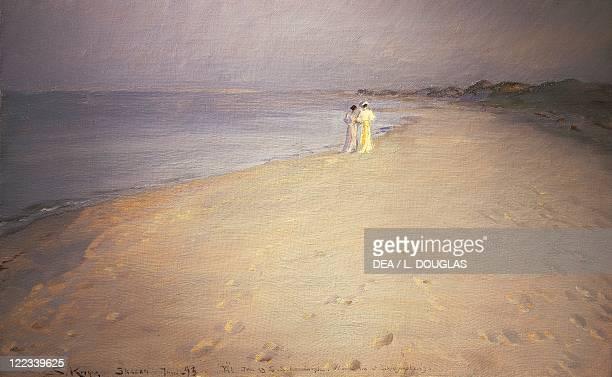 Peder Severin Kroyer Summer Night on the Beach at Skagen 1893