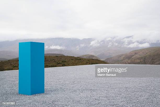 Pedestal outdoors with clouds