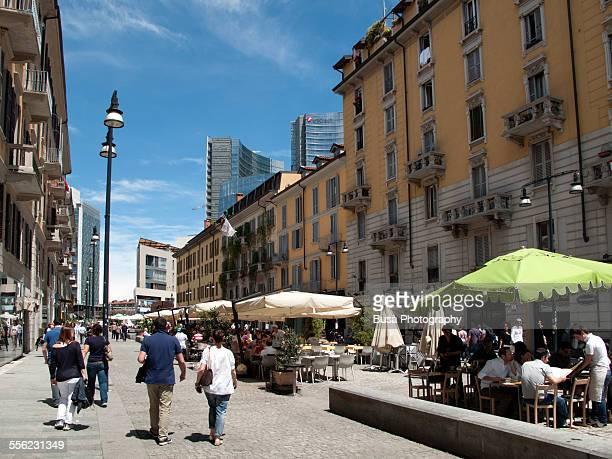 Pedestrian area in Corso Como, Milano