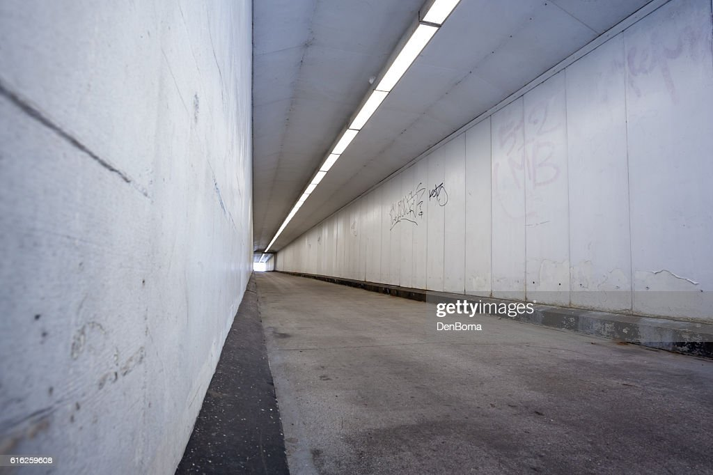 pedestrian bicycle tunnel : Foto de stock