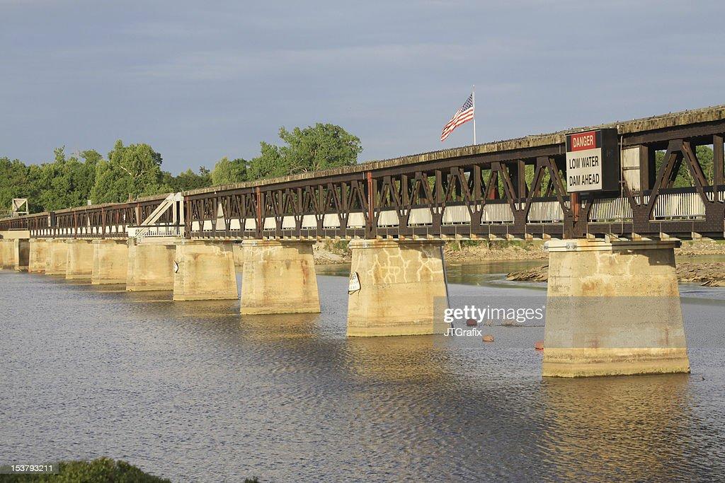 custom pedestrian bridges pedestrian bridge arkansas river tulsa oklahoma stock photo