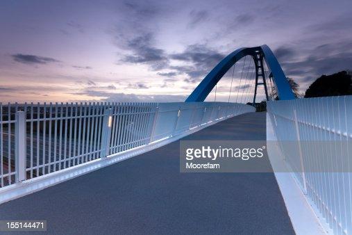 Pedestrian bridge over M5 motorway Exeter