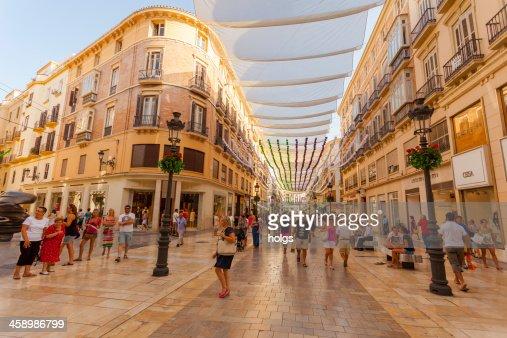 Pedestrian district, Malaga, Spain