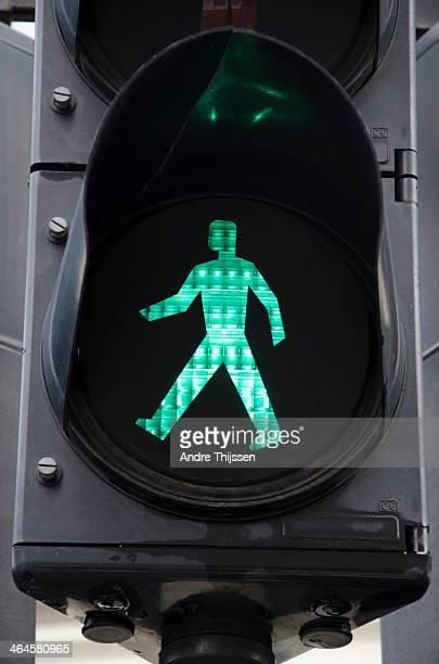 Pedestrian light on green