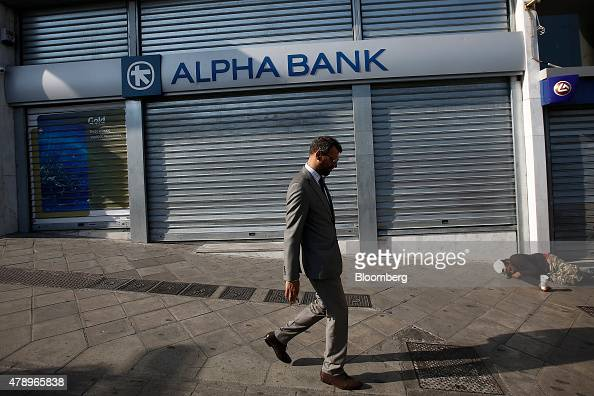 ... Alpha Bank AE bank branch in Athens Greece on Monday June 29 2015