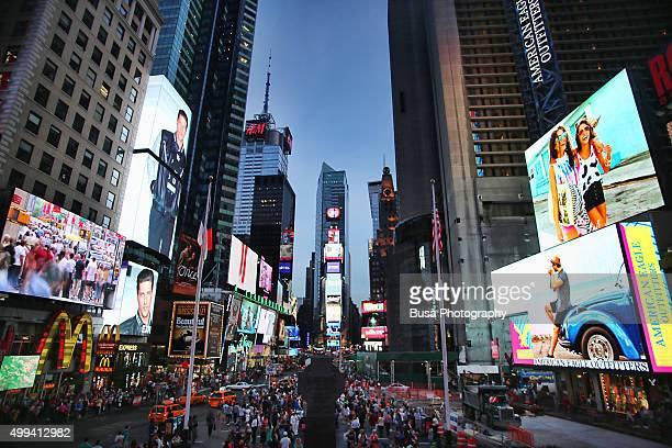 Pedestrian plaza at Times Square, Midtown Manhattan, New York City