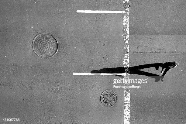 Pedestrian seen from above
