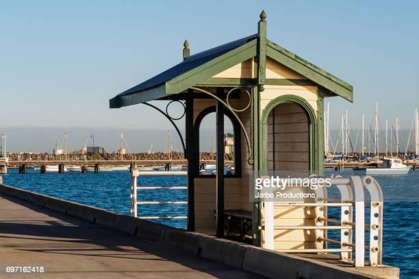 Pedestrian Shelter at St Kilda Wharf Melbourne