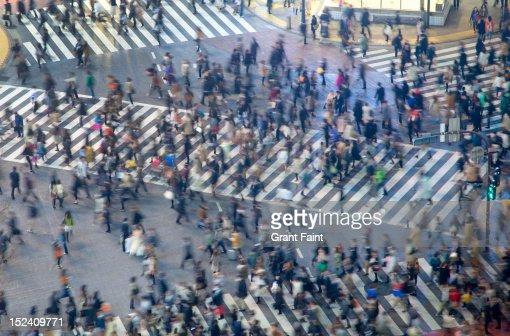 Pedestrian street crossing. : Stock Photo