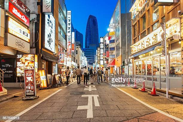 Pedestrian street in Shinjuku Ward, Tokyo