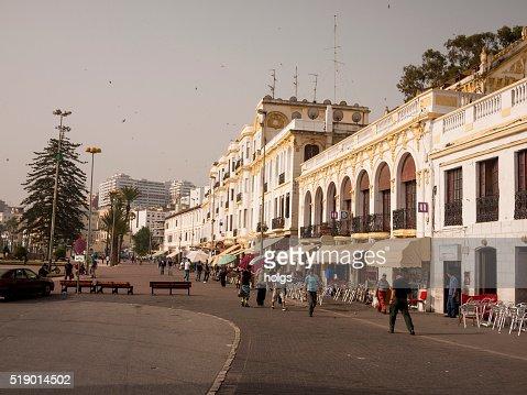 Pedestrian Street in Tangiers, Morocco