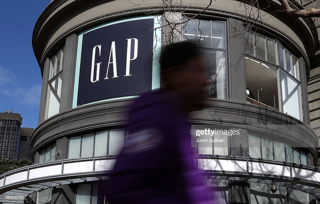 A pedestrian walks by a Gap store on February 7, 2013 in San Francisco City. Monthly retail sales data showed a strong January for many of the top retailers, including the Gap Inc. who had sales that came in slightly over Wall Street expectations.