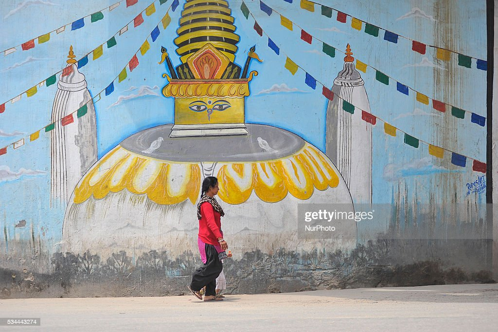 A pedestrian walks towards the destination as national-wide local transportation strike by transport entrepreneurs at Kalanki, Kathmandu on May 26, 2016.