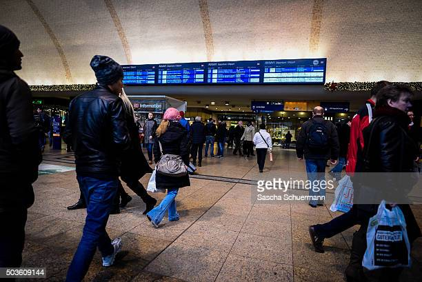 Pedestrians enter the Hauptbahnhof main railway station on January 6 2015 in Cologne Germany 90 women have filed charges with police over what they...