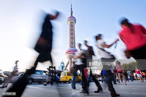 Pedestrians in Shanghai, China
