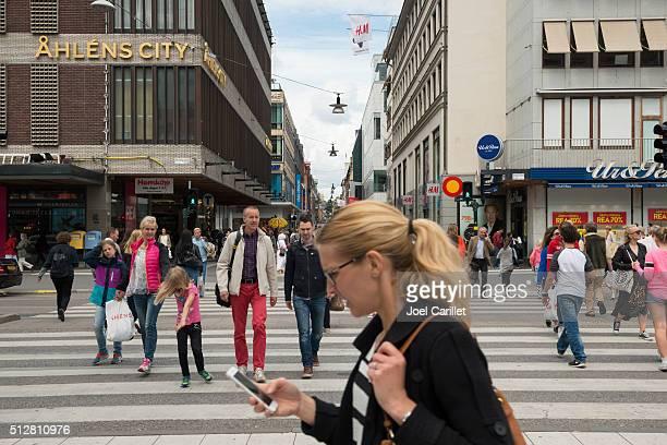 Pedestrians in Stockholm, Sweden