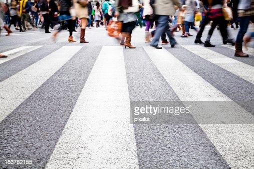 Pedestrians in the City