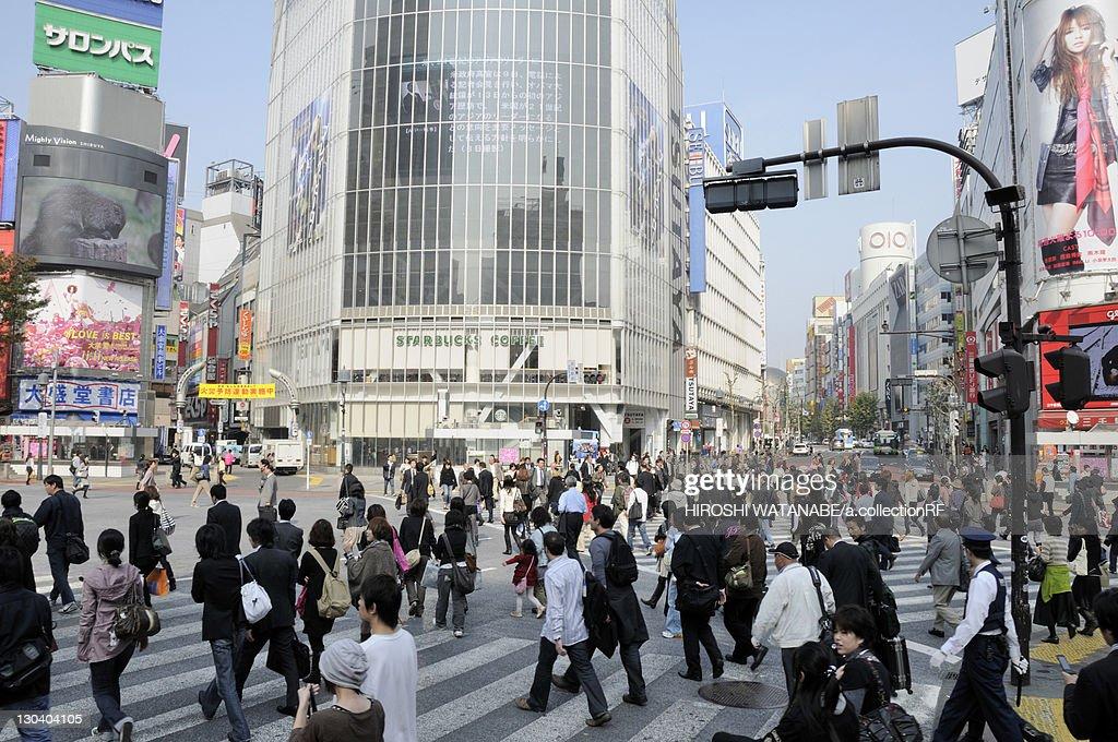 Pedestrians Outside Shibuya Station