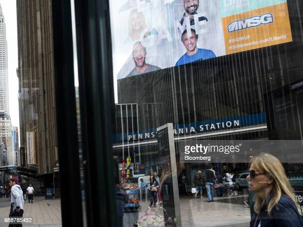 Pedestrians pass in front of Pennsylvania Station in New York US on Friday May 26 2017 President Donald Trump tapped New York developer Steven...
