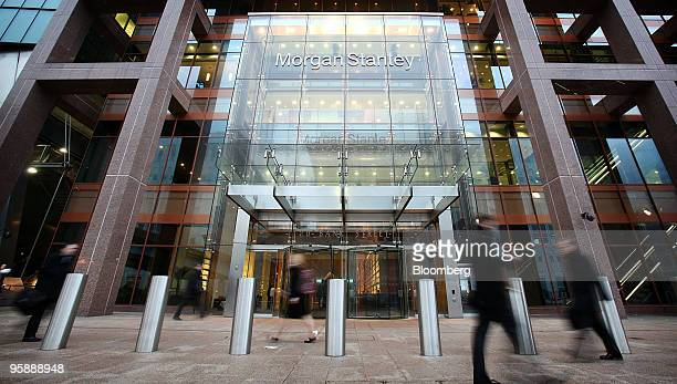 Pedestrians pass the Morgan Stanley headquarters at Canary Wharf in London UK on Monday Jan 18 2010 Bank of America Merrill Lynch is helping more...