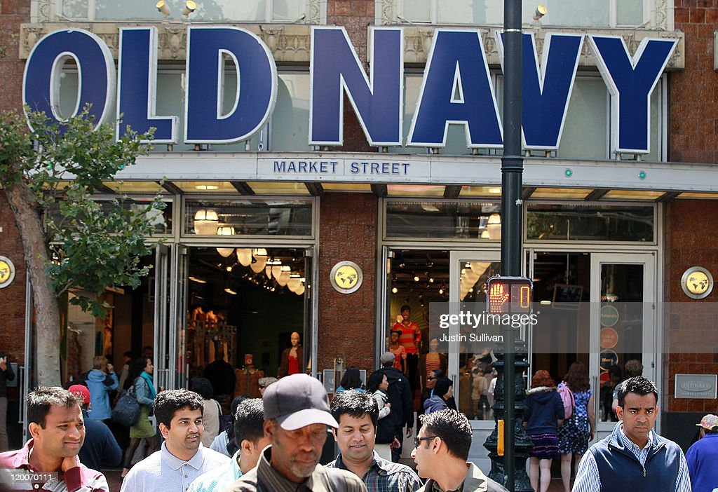 Pedestrians walk in front of an Old Navy store on July 29, 2011 in San Francisco, California. The U.S. Commerce Department reported today that the U.S. economy slowed in the second quarter with the GDP coming in at 1.3 percent, far lower than expected.