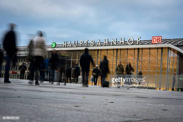 Pedestrians walk in front of Hauptbahnhof main railway station on January 6 2015 in Cologne Germany 90 women have filed charges with police over what...