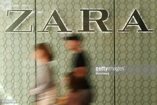 Pedestrians walk past a Zara store operated by Inditex SA at the Pitt Street Mall in Sydney Australia on Thursday April 13 2017 The Australian...