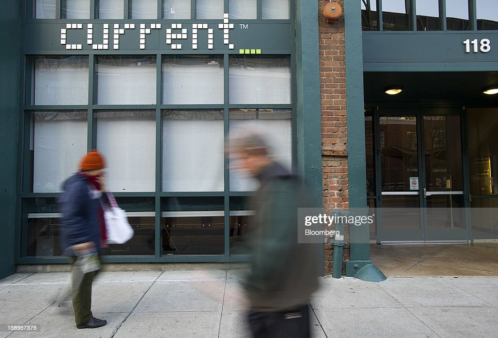 Pedestrians walk past Current TV LLC headquarters in San Francisco, California, U.S., on Friday, Jan. 4, 2013. Al Jazeera will pay about $500 million for Current TV, including the stake held by former vice president Al Gore according to two people with knowledge of the deal. Photographer: David Paul Morris/Bloomberg via Getty Images