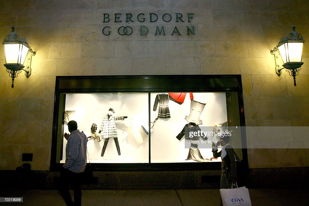 Pedestrians walk past the exterior of the Bergdorf Goodman store during a book signing for Linda Wells' new book 'Allure Confessions of a Beauty...