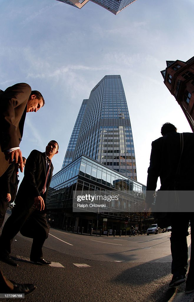 Pedestrians walk past the headquarters of the European Central Bank (ECB) on September 27, 2011 in Frankfurt am Main, Germany. Europe is continuing to wrestle with the ominous prospect of a Greek debt default that many fear could spread panic and push the already fragile economies of Italy, Portugal and Spain into a crisis that would rock the Eurozone and lead to global repercussions. On Thursday the Bundestag, under the urging of German Chancellor Angela Merkel, is expected to pass an increase in funding for the European Financial Stability Facility (EFSF), a measure many see as necessary for financial markets to regain confidence in the European banking system.