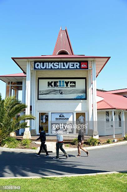 Pedestrians walk past the Quiksilver Inc store in Torquay Australia on Saturday Sept 22 2012 The surfwear brands Rip Curl Group Pty and Quiksilver...