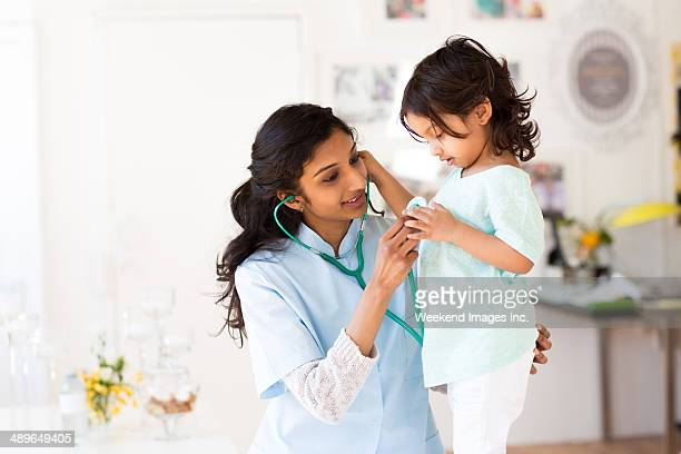 Pediatrician and little patient