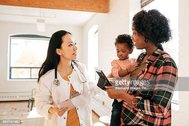 Pediatrician and toddler